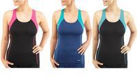 Bohn Swimwear Tankini Top In Pink, Navy And Turquoise Size 8 - 20