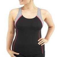 Bohn Swimwear Jansie Tankini Top in Black/Grey/Pink Size 8 - 24